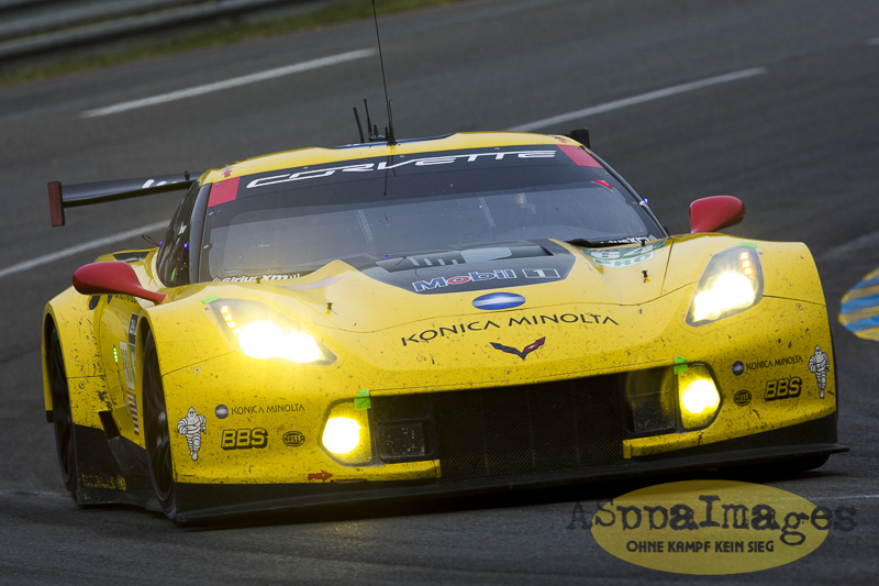 The Corvette C7.R scored its first Le Mans win at the 2015 24 Hours of Le Mans, with Oliver Gavin, Tommy Milner, and Jordan Taylor driving the #64 Corvette to victory in the GTE-Pro class / ASppaImages.COM