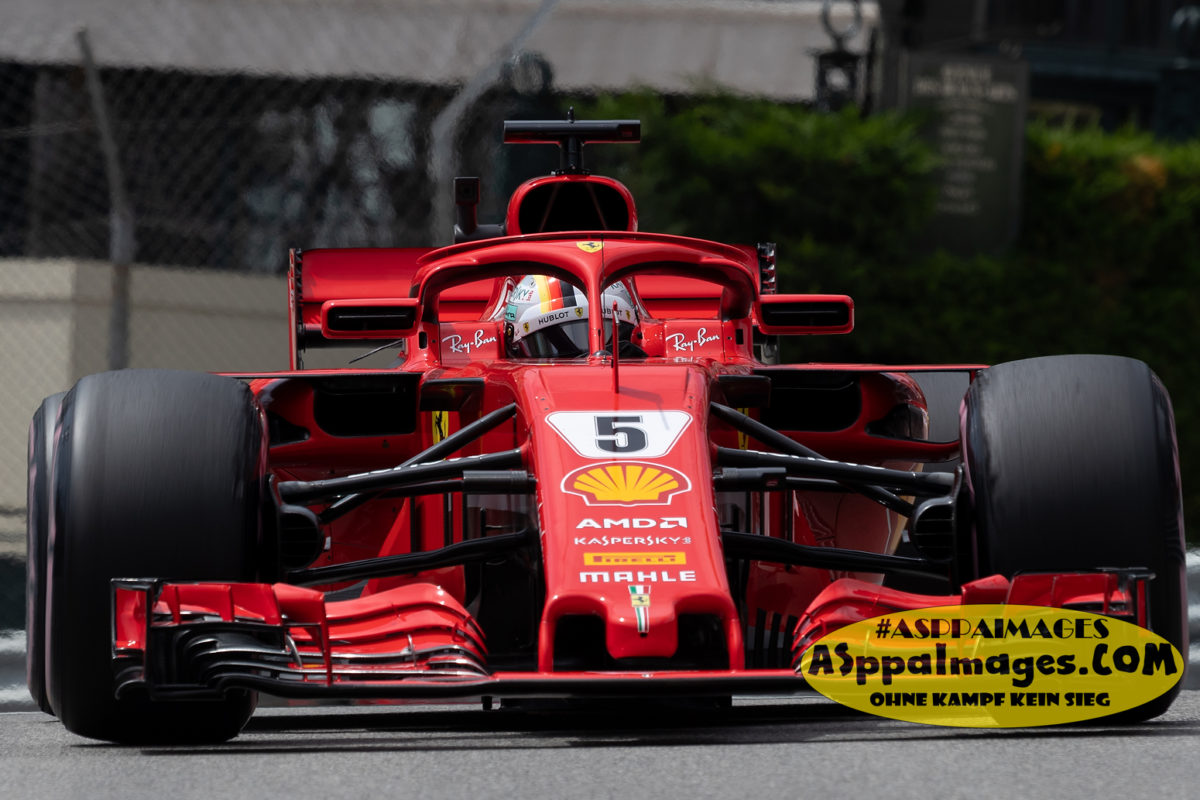 #5 Sebastian Vettel, #7 Kimi Raikkonen, Scuderia Ferrari F1 Team, Monaco GP 2018 – All days photo 24-27 mai 2018 / F1 photographer Aleksandr B. Seregin / ASppaImages.COM