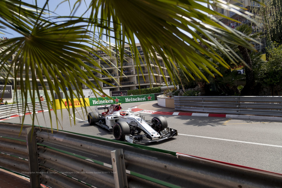 Alfa-Romeo Sauber F1 Team 2018 in Monaco Grand Prix